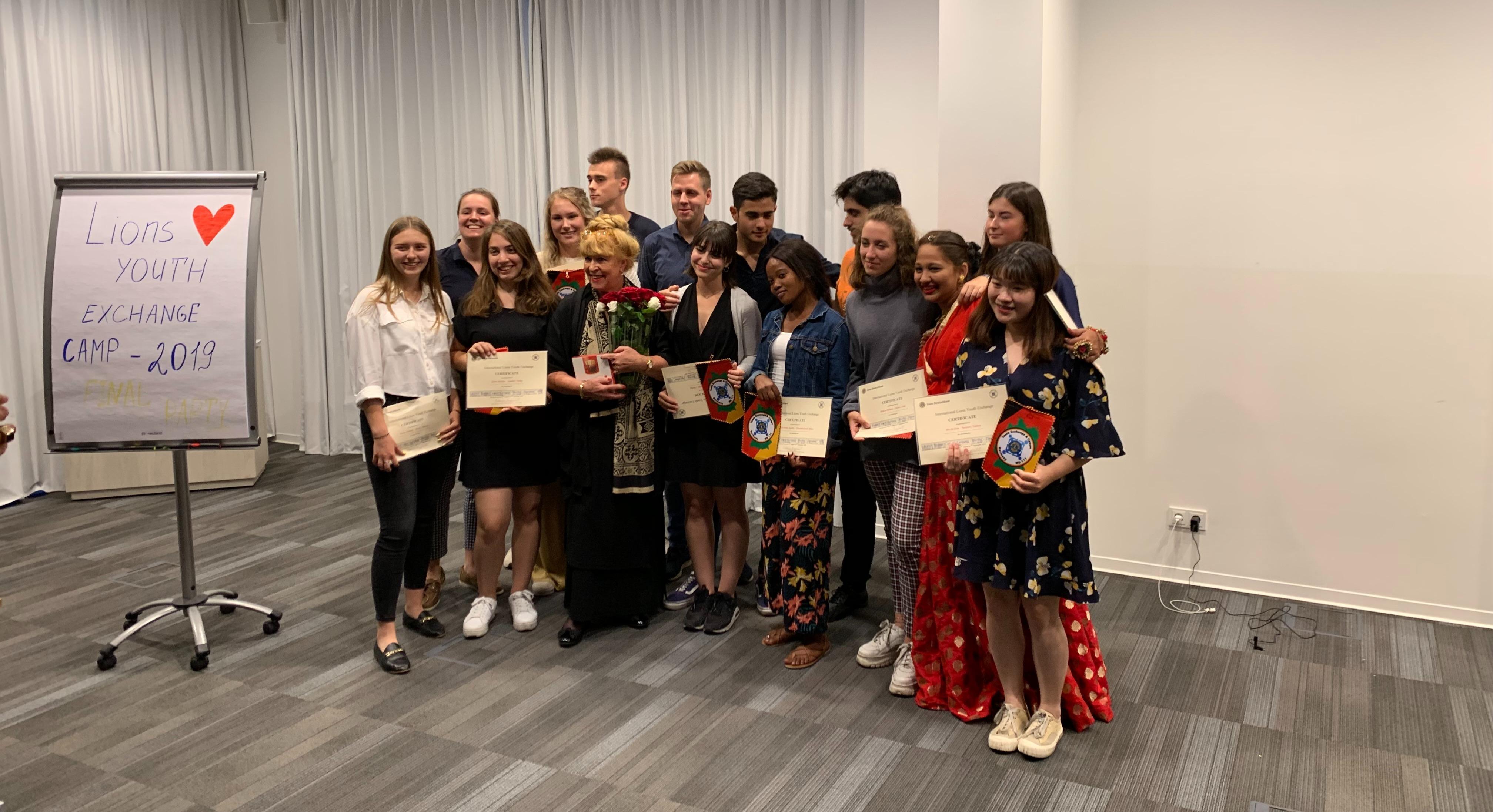 Glückliche, dankbare Teilnehmer des Lions Jugendcamps 2019